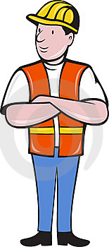 Construction Worker With Arms Folded Stock Photos - Image: 20282323