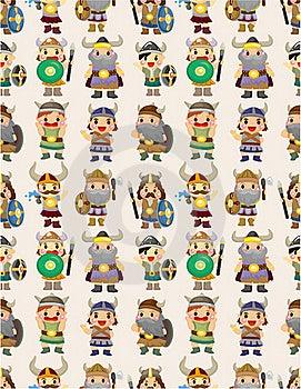 Cartoon Vikings Pirate Seamless Pattern Stock Photos - Image: 20284973
