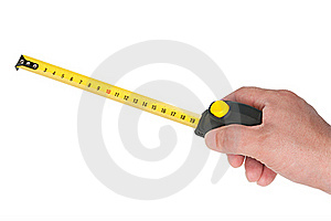 Measurement Roulette In Hand Stock Photography - Image: 20288082