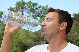 Man Drinking Water From Bottle Royalty Free Stock Photography - Image: 20289877