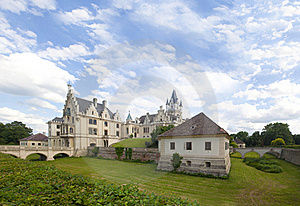 Classical Style Castle Panorama Stock Photos - Image: 20291243
