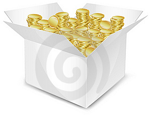 Box With Coin Stock Images - Image: 20291614