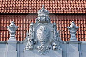 Old Bas-relief On The Roof Stock Photos - Image: 20293193
