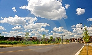Newly Developed Houses Royalty Free Stock Photography - Image: 20295027