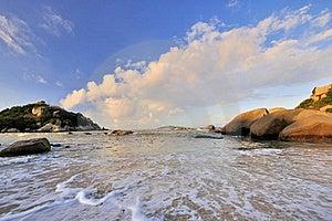 Sea Coast In Sunrise Lighting Royalty Free Stock Photos - Image: 20296608