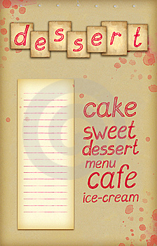 Background With Text Of Dessert Stock Images - Image: 20299294