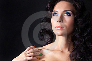 Professional Colourful Make-up And Manicure Stock Photography - Image: 20299572