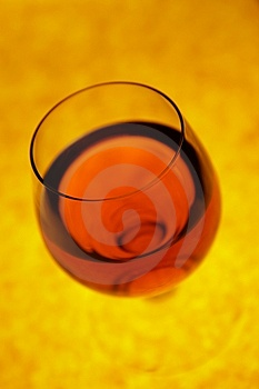 Glass With Red Cognac In Perspective Stock Photography - Image: 2036172