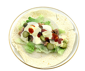Tuna Wrap Royalty Free Stock Photos - Image: 2038468