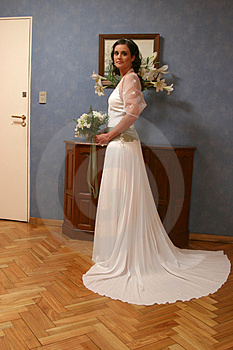 A Bride Ready To Leave To Church Stock Photography - Image: 2039052