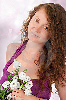 Beautiful Woman With Flowers Stock Photography - Image: 20300512