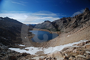 Dark Lake And Mountains Landscape Stock Photos - Image: 20302343