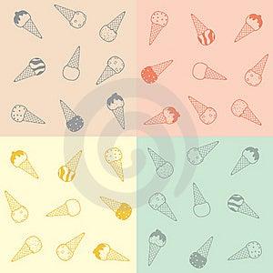 Ice-cream Pattern Royalty Free Stock Image - Image: 20302856