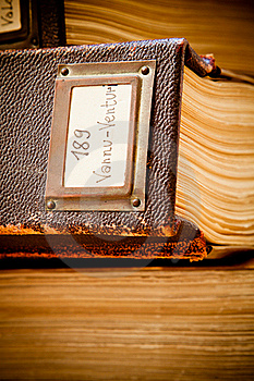 Old Library Catalogue Royalty Free Stock Image - Image: 20308676
