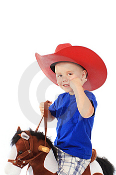 Little Cowboy On A Horse Royalty Free Stock Images - Image: 20308899