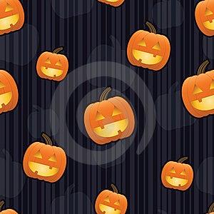 Jack-O-Lantern Seamless Tile Stock Photos - Image: 20309613