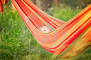 Adorable Baby Relaxing In Hammock Stock Photography - Image: 20312002