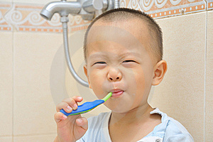 Baby Brush Teeth Stock Photography - Image: 20312262