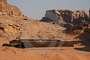 Bedouin House In Wadi Rum Stock Photography - Image: 20312782