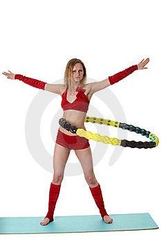 Woman With Hula-hoop Stock Photos - Image: 20313543