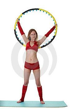 Woman With Hula-hoop Royalty Free Stock Photo - Image: 20313545