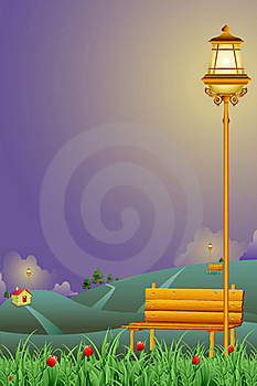 Night Park Royalty Free Stock Images - Image: 20318749