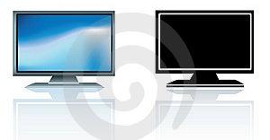 Modern Flatscreen High Definition Style Television Stock Photos - Image: 20319773