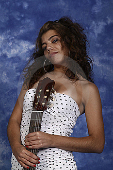 Woman With Guitar Stock Photography - Image: 20320002