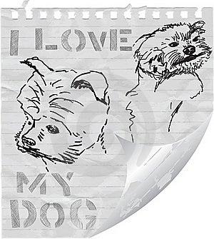 I Love My Dog Royalty Free Stock Image - Image: 20320506
