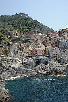Scenic Coastal Village Of Manorola, Italy Stock Photo - Image: 20321150