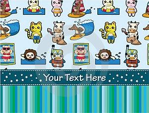 Summer Animal Sport Card Stock Photos - Image: 20322993
