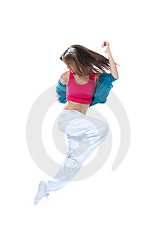 Modern Slim Style Woman Dancer Jumping Stock Photos - Image: 20324383