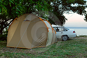 Car Camp Royalty Free Stock Image - Image: 20324486