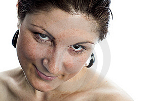 Pretty Girl Tilting Her Head And Smiling Stock Photography - Image: 20324872