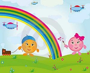 Cartoon Rainbow Royalty Free Stock Photo - Image: 20326735