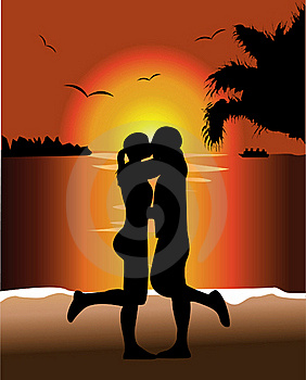 Sunset Kiss Stock Images - Image: 20329134