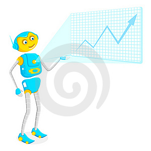 Robot Giving Presentation Royalty Free Stock Photography - Image: 20329147
