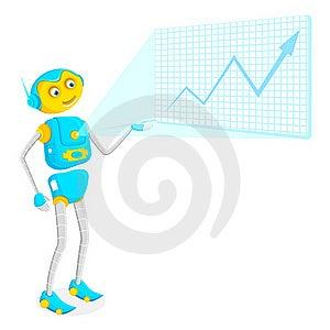 Robot Giving Presentation Royalty Free Stock Photography - Image: 20329147
