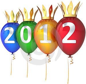 New Year 2012 Balloons Royal Party Decoration Royalty Free Stock Photo - Image: 20331155