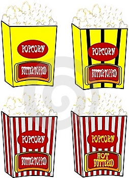 Popcorn In Various Styles Royalty Free Stock Photography - Image: 20335647