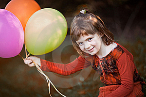 Play With Baloons Stock Photo - Image: 20336210