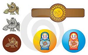 Russische Sierstijl Royalty-vrije Stock Afbeeldingen - Afbeelding: 20336419