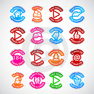 Set Of Color Labels. Stock Photography - Image: 20339802