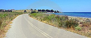 Curved Road Near Sea Stock Images - Image: 20339914