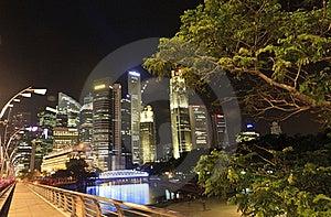 Beautiful Singapore City At Night Royalty Free Stock Image - Image: 20343566