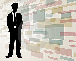 Business man on Abstract Background Stock Photo