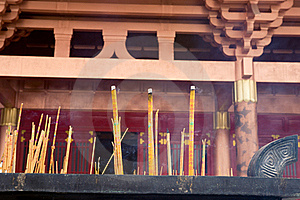 Burning Incense,temple Royalty Free Stock Image - Image: 20345036