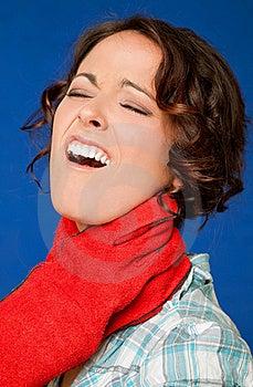 Woman Pain Strangled Throat Stock Image - Image: 20345481
