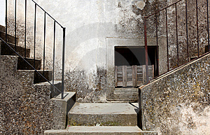 Two Concrete Stairways Going Left And Right Royalty Free Stock Photos - Image: 20350818