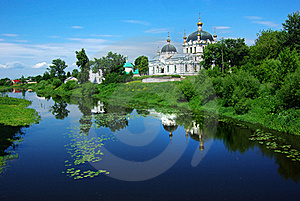 Picturesque Russian Landscape With Church. Stock Image - Image: 20351051